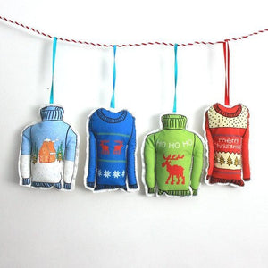 Christmas Sweater Ornament Set