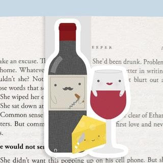 Wine + Cheese Magnetic Bookmark