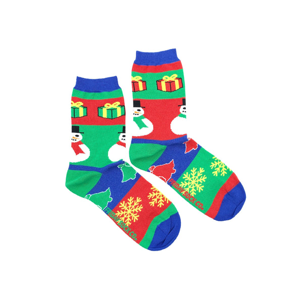 Snowman Ugly Christmas Socks (Crew)