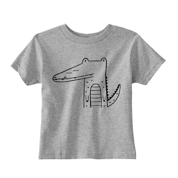 Arthur the Alligator Grey Kid's Tee