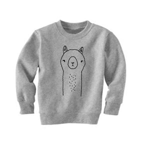 Agyness the Alpaca Grey Kid's Sweatshirt