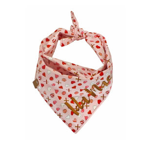 Balls, Sticks + Hearts Dog Bandana