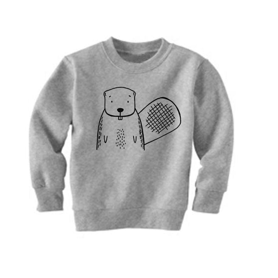 Boots the Beaver Grey Kid's Sweatshirt