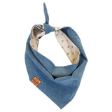 Blue Anchor / Dark Chambray Bandana