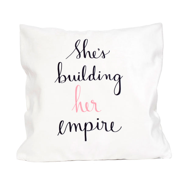She's Building Her Empire - Velveteen Pillow Cover