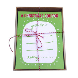 A Christmas Coupon - Box of 8