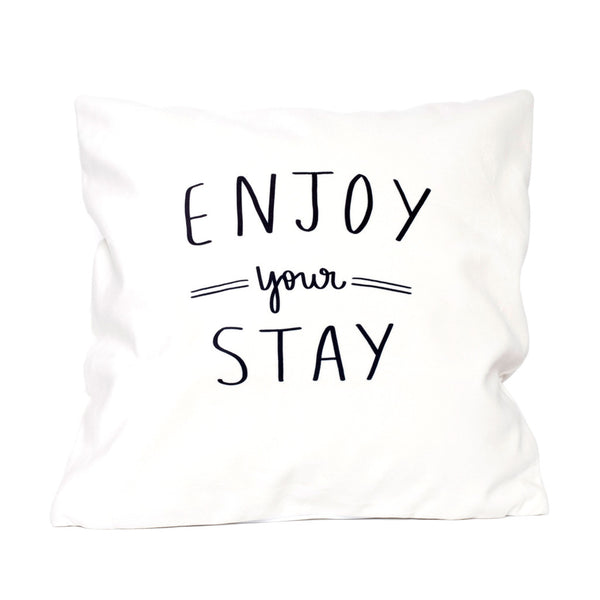Enjoy Your Stay - Velveteen Pillow Cover