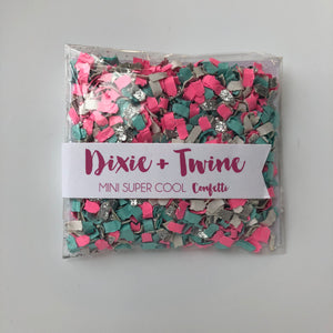Party Confetti - Pink, Blue + Silver