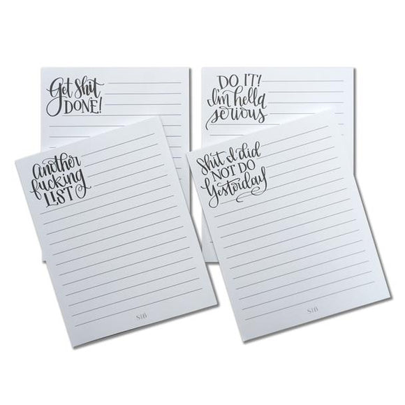 Legit Lists Boxed Set of 4 Notepads