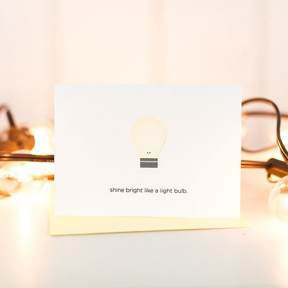 Shine Bright Like a Light Bulb Card