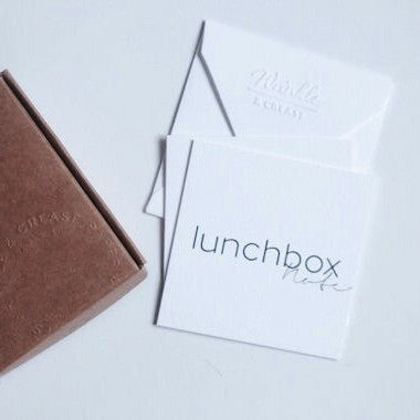 Lunchbox Note Box - Set of 5 mini cards