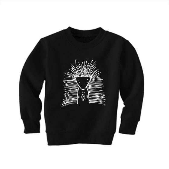 Pip the Porcupine Black Kid's Sweatshirt