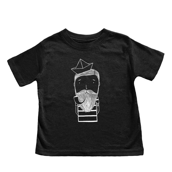 Simon the Sailor Charcoal Kid's Tee