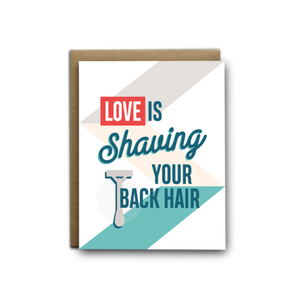 Love is Shaving Card