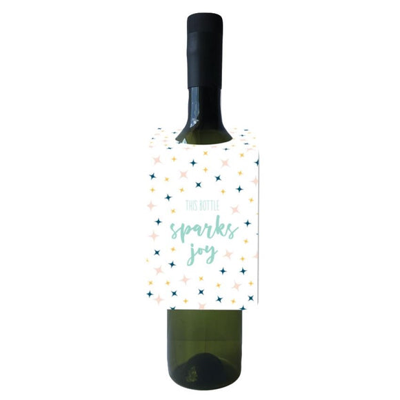 This Bottle Sparks Joy Bottle Neck Tag