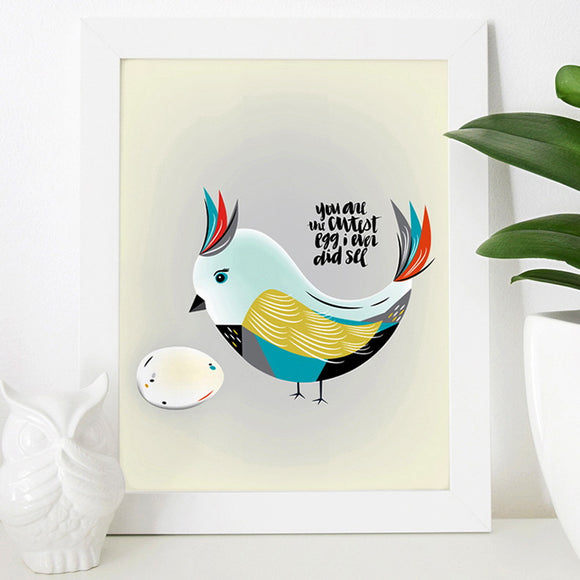 Cutest Egg (Blue) Print