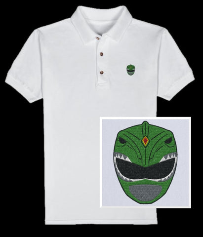 Dragon Helmet Polo (you choose shirt color)
