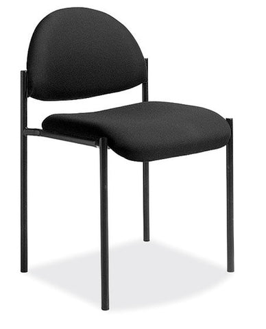 EBONY STACKING SIDE CHAIR W/O ARMS