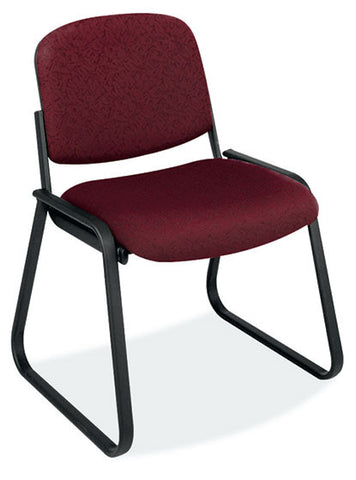 BLK FRAME-ARMLESS SIDE CHAIR