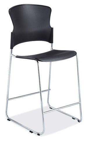 BLACK POLY CAFÉ HEIGHT STOOL