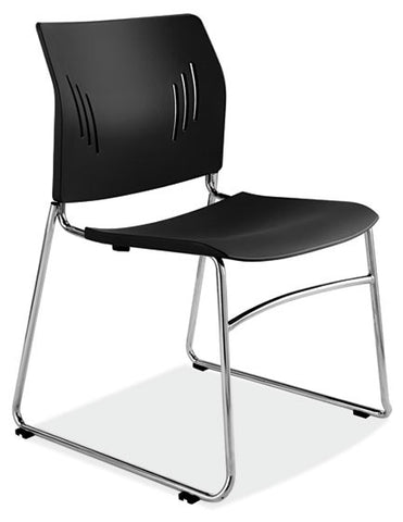 CHROME ARMLESS STACK CHAIR