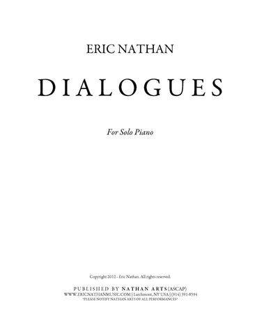 Dialogues (2012) - For Piano