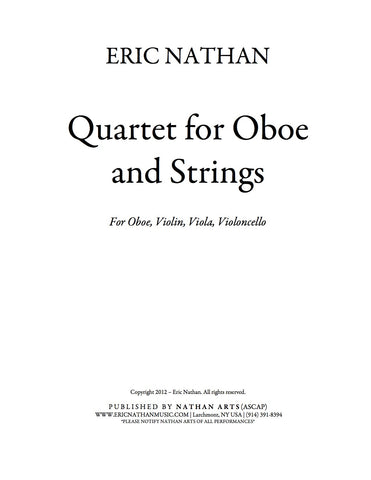 Quartet for Oboe and Strings (2012) - For Oboe, Violin, Viola, Cello