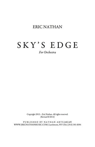 """Sky's Edge"" (2013) - For Youth Orchestra"
