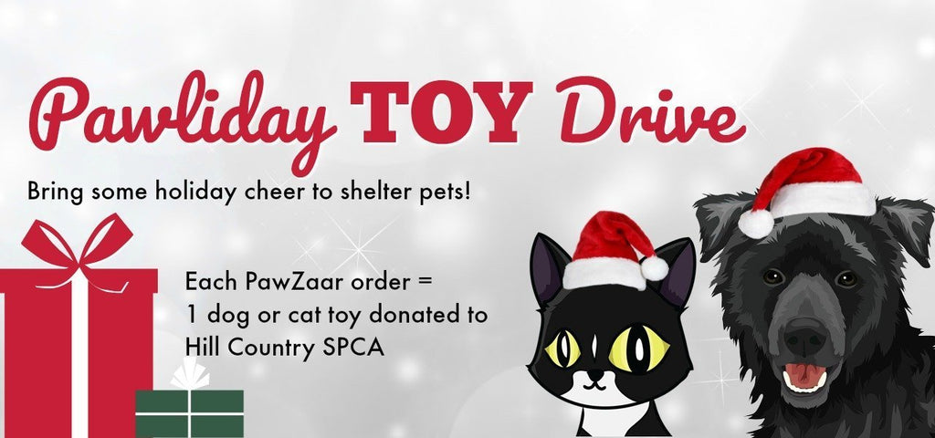 2018 Pawliday Toy Drive for Shelter Dogs + Cats!