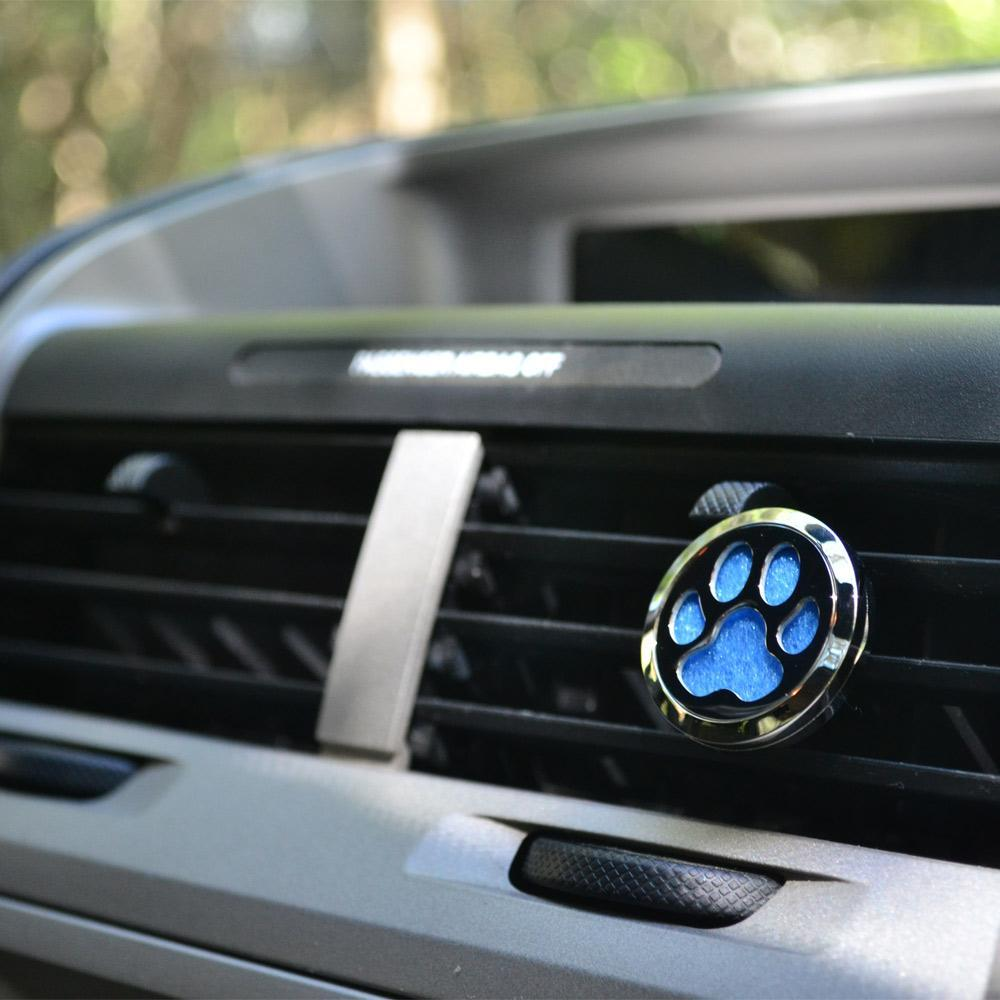 PawZaar Home Decor Lone Paw Aromatherapy Car Diffuser