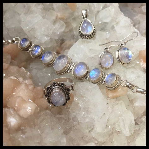 sterling silver moonstone jewelry