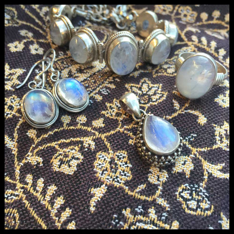 fairtrade moonstone jewelry in sterling silver