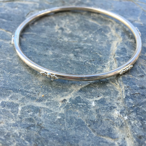 sterling silver fairtrade bangle