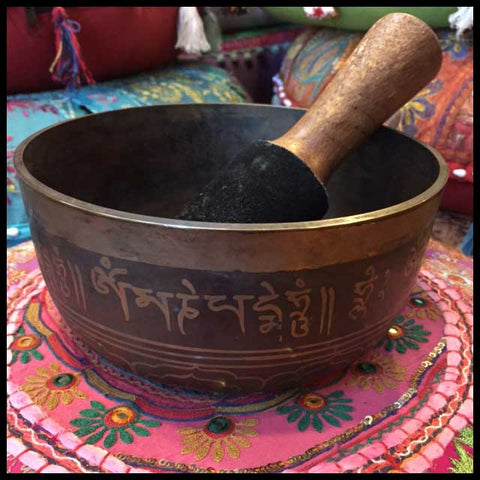 medium size tibetan singing bowl