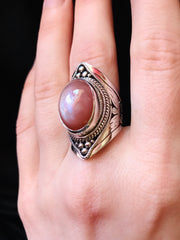 Fruit of The Divine Peach Moonstone Ring