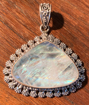 Tear of The Goddess Moonstone Pendant - Floating Lotus