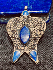 Soul of The Wise Antique Turkoman Pendant - Floating Lotus