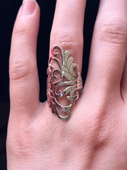 Ornate Silver Goddess Ring