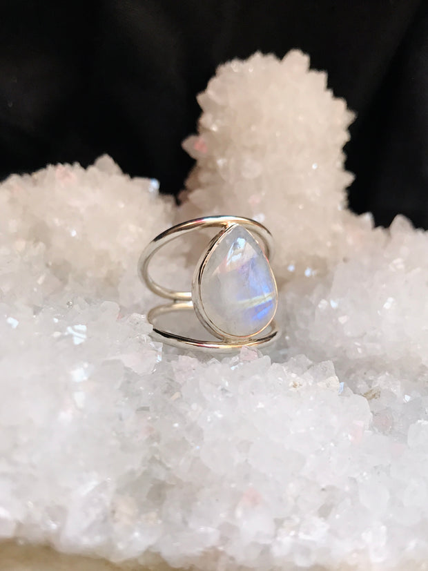 Moonstone Pear Ring