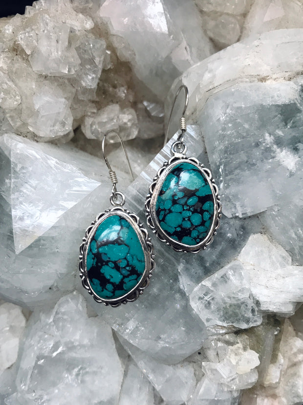 Tibetan Turquoise Earrings