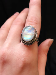 Radiant Moonstone Ring