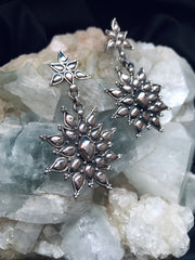 Star of Radiance Vintage Silver Earrings