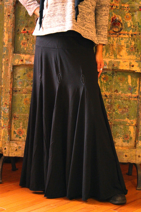Organic Cotton Goddess Skirt - Floating Lotus