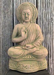 Sandstone Buddha - Floating Lotus