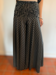 Aria Wide Leg Pants - Floating Lotus