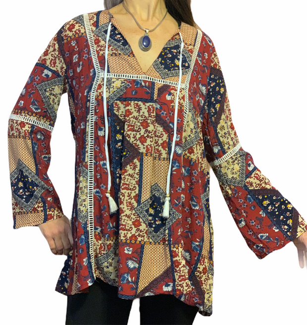 Stella Tunic Top - Floating Lotus