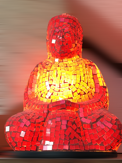 Glass Mosaic Buddha - Floating Lotus