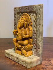 Ceramic Ganesh or Buddha Statue on Marble