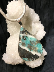 Earth's Blessing Emerald & Pyrite Pendant