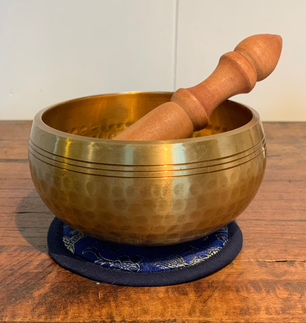 Throat Chakra Hammered Singing Bowl